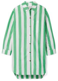 Mara Hoffman Bennet Oversized Striped Organic Cotton Shirt