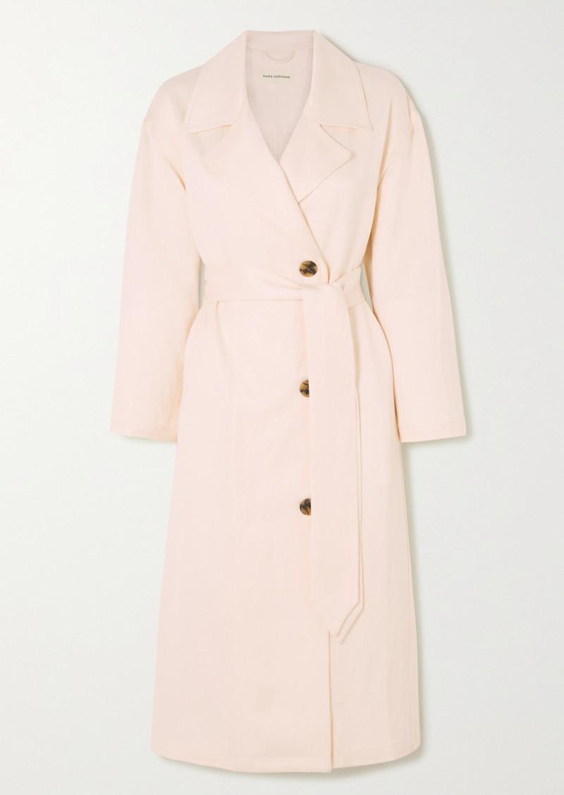 Mara Hoffman Bernadetta Tencel And Linen-blend Midi Dress