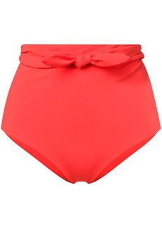 Mara Hoffman bow detail high waisted bikini bottoms