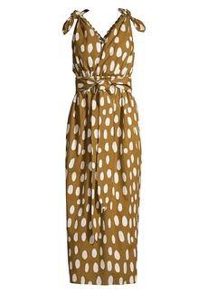 Mara Hoffman Calypso Dotted Tie-Waist Cover-Up