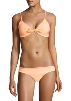 Mara Hoffman Carla Tie-Front Bikini Top