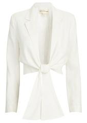 Mara Hoffman Catalina Cropped Tie-Front Blazer