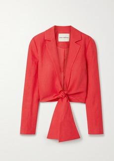 Mara Hoffman Net Sustain Catalina Tie-front Tencel And Linen-blend Jacket