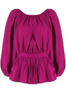 Mara Hoffman cinched waist blouse