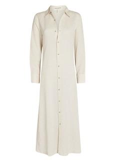 Mara Hoffman Cinzia Cotton-Linen Shirt Dress