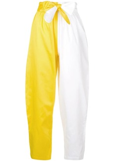 Mara Hoffman colour block cropped trousers