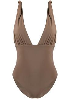 Mara Hoffman deep V-neck swimsuit