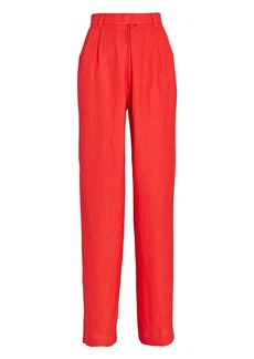 Mara Hoffman Eldora Pleated High-Waist Pants