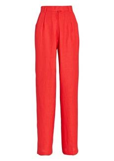 Mara Hoffman Eldora Pleated High-Waist Pants