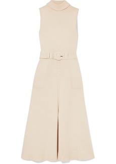 Mara Hoffman Elle Belted Organic Cotton Turtleneck Midi Dress