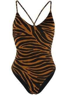 Mara Hoffman Emma zebra stripe swimsuit