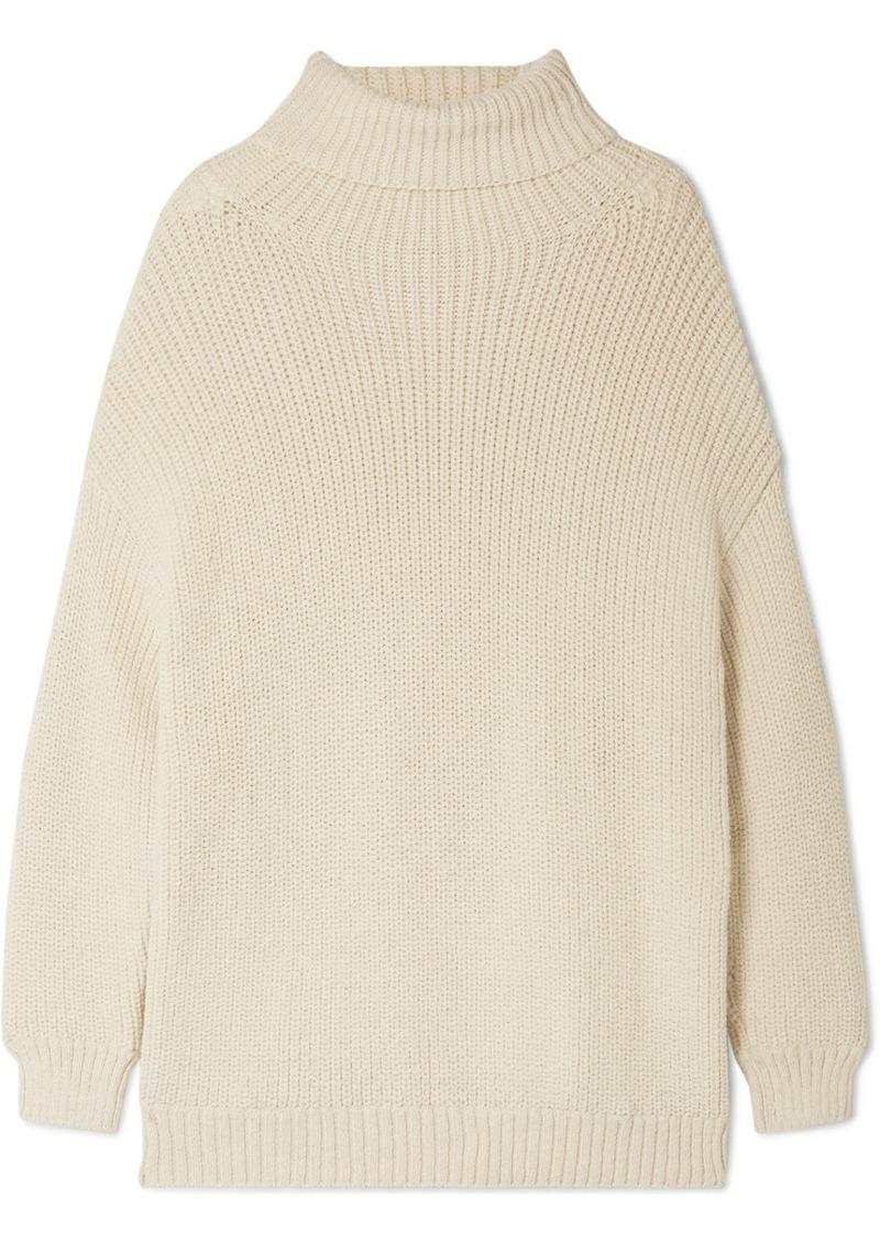 Evren Oversized Alpaca And Organic Cotton-blend Turtleneck Sweater