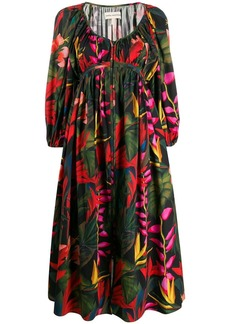 Mara Hoffman floral ruched midi dress