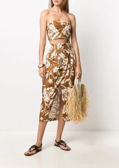 Mara Hoffman Florence floral print midi skirt