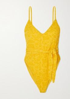 Mara Hoffman Gamela Belted Textured Swimsuit