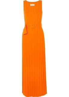 Mara Hoffman Harlow Belted Ribbed Organic Cotton Maxi Dress