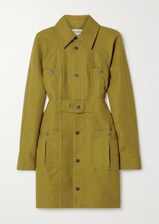 Mara Hoffman Net Sustain Ino Linen And Organic Cotton-blend Mini Shirt Dress