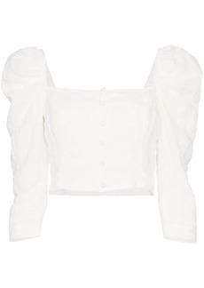 Mara Hoffman Isadora pouf-sleeve crop top