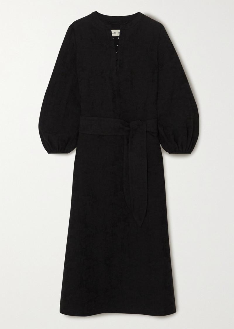 Mara Hoffman June Organic Cotton And Linen-blend Midi Dress