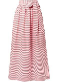 Mara Hoffman Katrine Striped Organic Cotton Wrap Skirt
