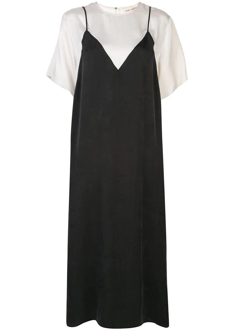 Mara Hoffman layered T-shirt slip dress