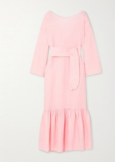 Mara Hoffman Lg Electronics Augusta Ruffled Linen Maxi Dress