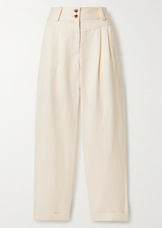 Mara Hoffman Net Sustain Liv Tencel And Linen-blend Twill Tapered Pants