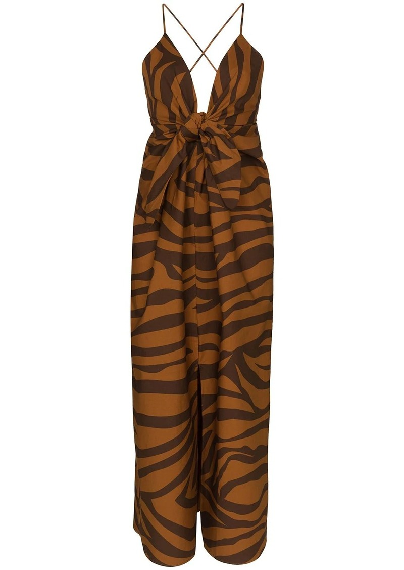Mara Hoffman Lolita animal stripe dress