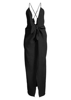 Mara Hoffman Lolita Tie-Front Cover-Up