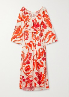 Mara Hoffman Luz Printed Organic Cotton Midi Dress