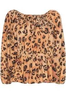 Mara Hoffman maud leopard print peplum top