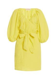 Mara Hoffman - Women's Coletta Organic Cotton-Linen Mini Wrap Dress - Yellow - Moda Operandi