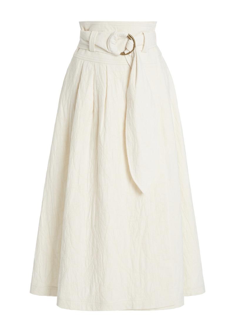 Mara Hoffman - Women's Esperanza Organic Cotton-Linen Midi Skirt - Ivory - Moda Operandi