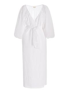 Mara Hoffman - Women's Fila Organic Linen Midi Wrap Dress - White - Moda Operandi