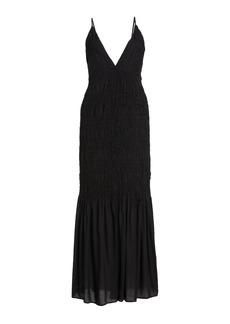 Mara Hoffman - Women's Keira Ruched Modal Maxi Dress - Black - Moda Operandi