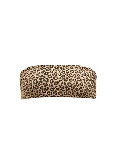 Mara Hoffman Abigail leopard-print bandeau bikini top