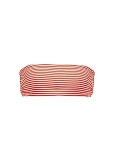 Mara Hoffman Abigail striped bandeau bikini top