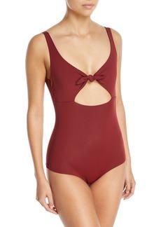 Mara Hoffman Adeline Tie-Waist One-Piece Swimsuit