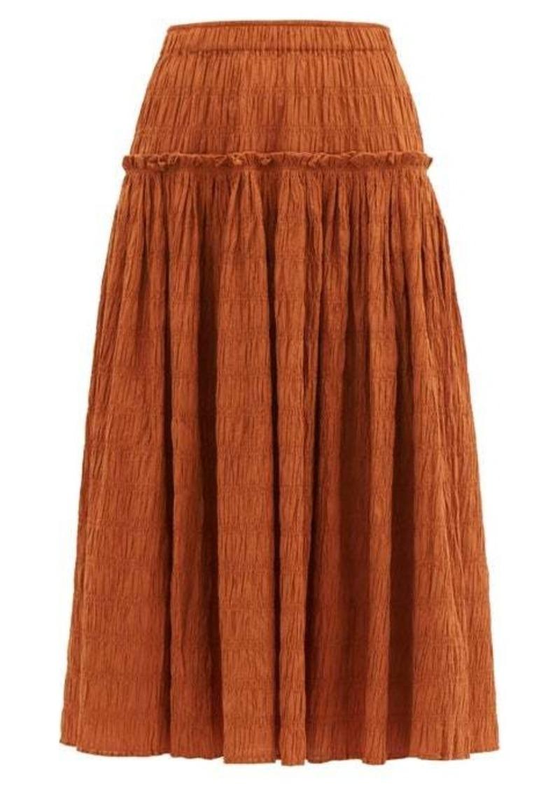 Mara Hoffman Alejandra shirred organic cotton-blend skirt