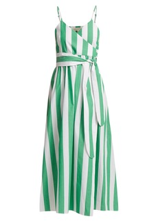 Mara Hoffman Alma bungalow-stripe wrap dress