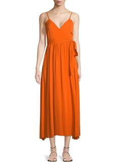 Mara Hoffman Alma Sleeveless Wrap-Front Maxi Dress