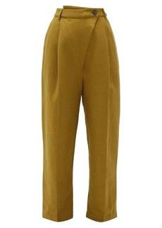 Mara Hoffman Almeria high-rise linen-blend trousers