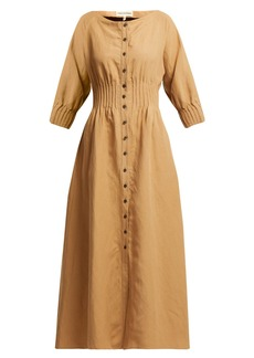 Mara Hoffman Amia pintucked canvas dress