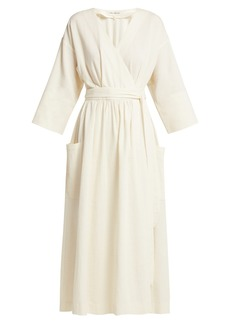 Mara Hoffman Anya organic-cotton wrap midi dress
