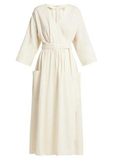Mara Hoffman Anya organic-cotton wrap midi dress