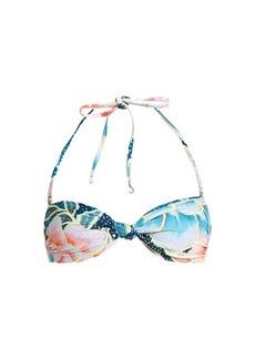 Mara Hoffman Arcadia Indigo-print bandeau bikini top