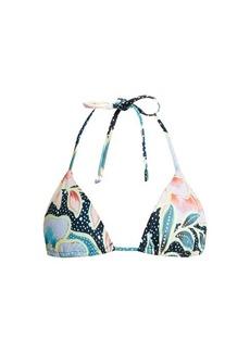 Mara Hoffman Arcadia Indigo-print triangle bikini top