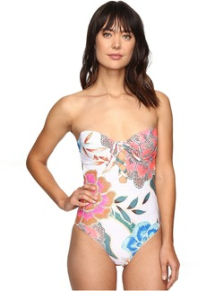 Mara Hoffman Arcadia Lace Front One-Piece