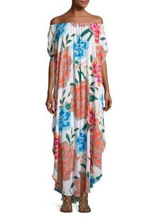 Mara Hoffman Arcadia Off-the-Shoulder Coverup Maxi Dress