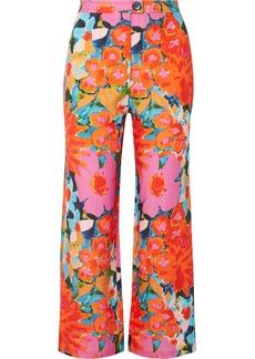 Mara Hoffman Arlene Floral-print Tencel And Linen-blend Flared Pants